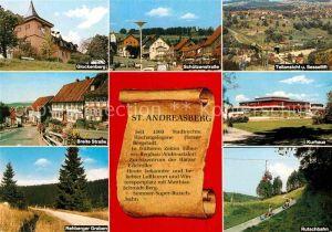 AK / Ansichtskarte Andreasberg Harz St Glockenberg Rutschbahn Rehberger Graben Panoramen Kat. Sankt Andreasberg