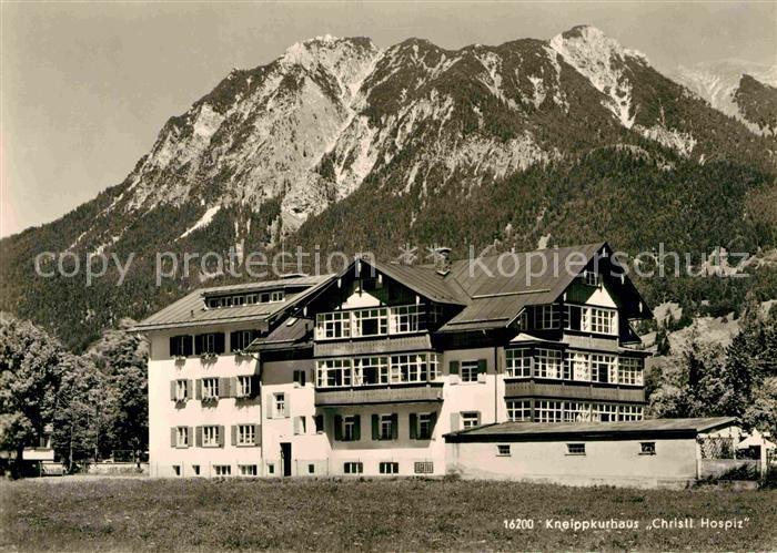 AK / Ansichtskarte Oberstdorf Kneippkurhaus Christliches Hospiz  Kat. Oberstdorf