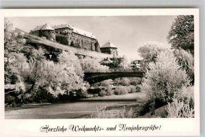AK / Ansichtskarte Tuebingen Neckar mit Schlossblick