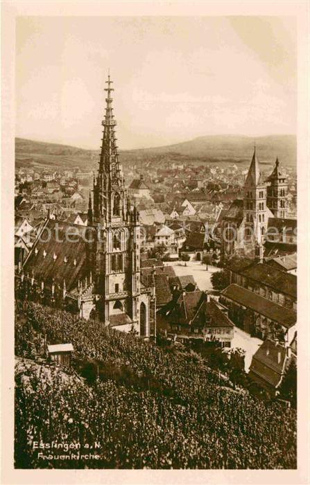 AK / Ansichtskarte Esslingen Neckar Frauenkirche Stadtkirche Kat. Esslingen am Neckar