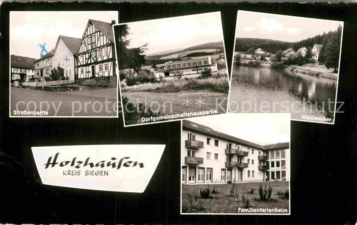 AK / Ansichtskarte Holzhausen Burbach Familienferienheim Strassenpartie