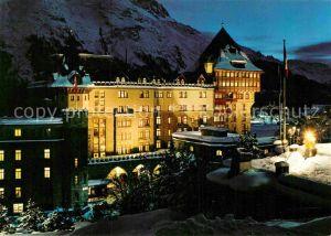 AK / Ansichtskarte Moritz GR St Hotel Palace Nachtaufnahme Kat. St Moritz