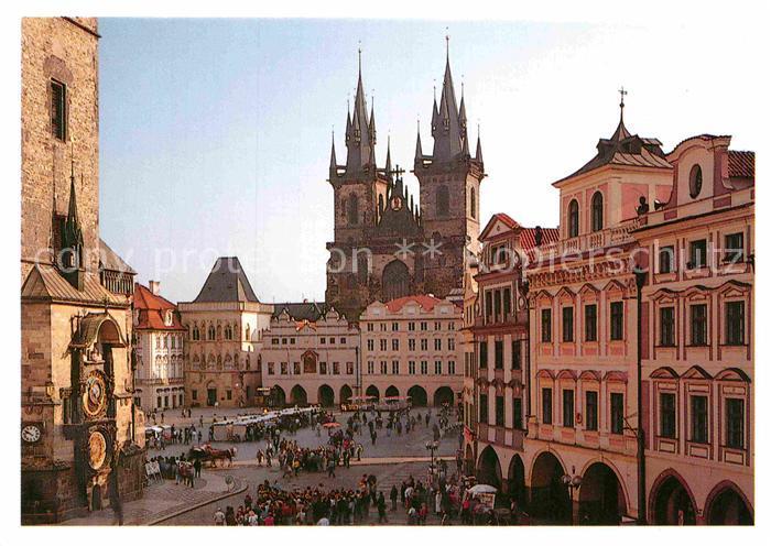 AK / Ansichtskarte Praha Prahy Prague Staromestske Namesti Altstaetter Ring Teynkirche Kat. Praha