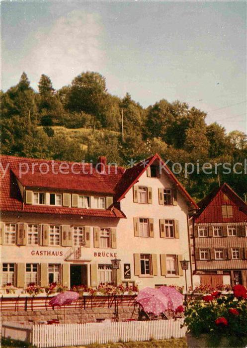 AK / Ansichtskarte Schiltach Gasthaus Pension Bruecke  Kat. Schiltach Schwarzwald