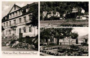 AK / Ansichtskarte Brodenbach Hotel zur Post Hotelgarten Hotel mit Dependance Kat. Brodenbach