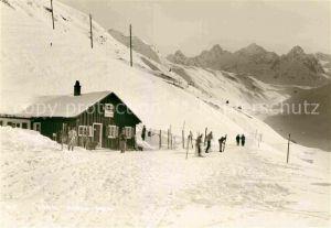 AK / Ansichtskarte Silvretta Gasthaus Stausee Winter Kat. Silvretta