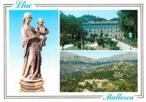 AK / Ansichtskarte Lluc Madonnenfigur Kloster Landschaftspanorama Bilder Baleareninseln Kat. Mallorca