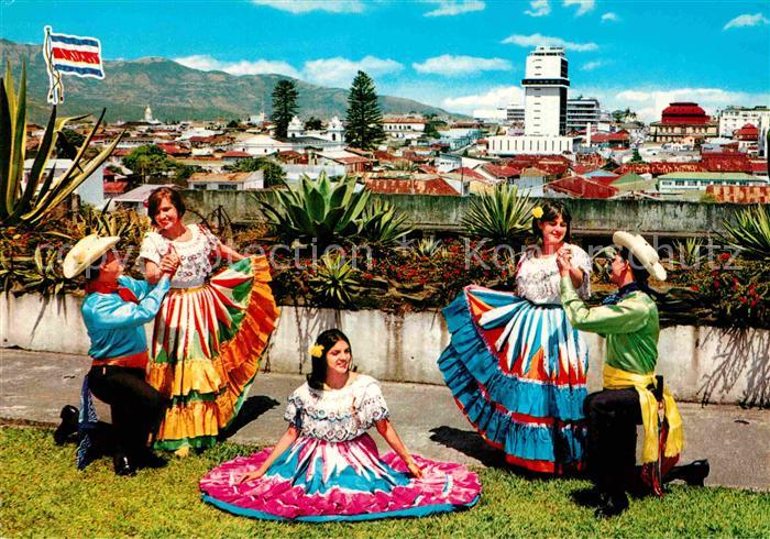 AK / Ansichtskarte Costa Rica Bailes tipicos Tanz Kat. Costa Rica