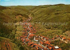 AK / Ansichtskarte Steina Suedharz Fliegeraufnahme Kat. Bad Sachsa