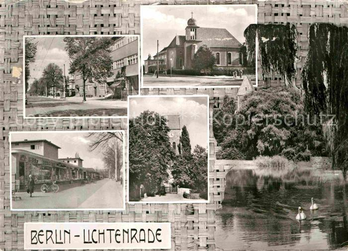 Karte Berlin Lichtenrade.Ak Ansichtskarte Lichtenrade Kirche See Panorama Kat Berlin Nr