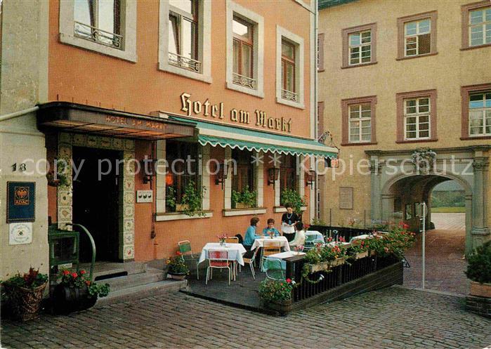 Ak Ansichtskarte Baden Baden Hotel Am Markt Kat Baden Baden