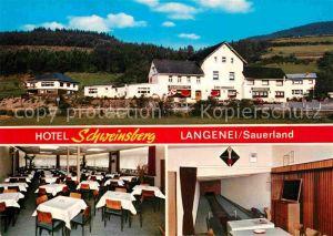 AK / Ansichtskarte Langenei Hotel Schweinsberg Kat. Lennestadt