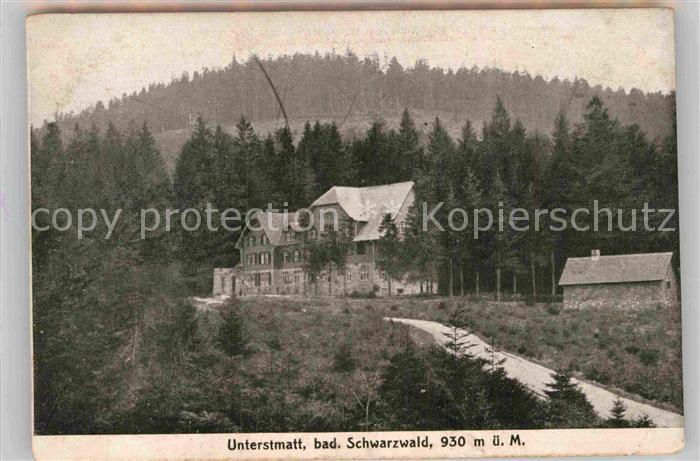 AK / Ansichtskarte Unterstmatt Kurhaus Unterstmatt Kat. Sasbach