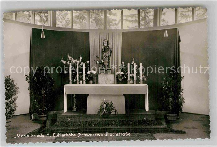 AK / Ansichtskarte Buehlertal Kirche Maria Frieden Altar Kat. Buehlertal