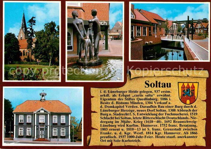 AK / Ansichtskarte Soltau Brunnen Kirche  Kat. Soltau