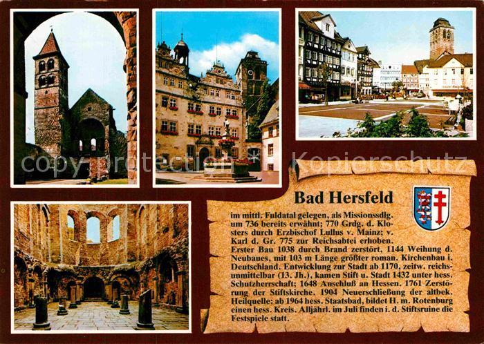 AK / Ansichtskarte Bad Hersfeld Altstadt Burgruine  Kat. Bad Hersfeld
