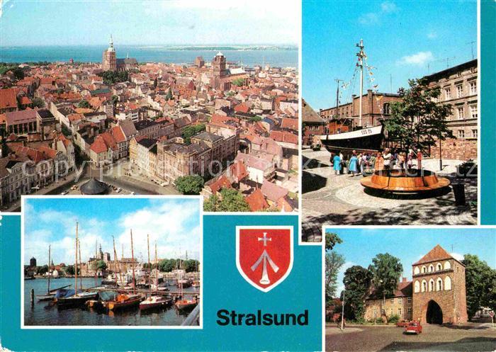 AK / Ansichtskarte Stralsund Mecklenburg Vorpommern Hafen Kniepertor Meeresmuseum Kat. Stralsund