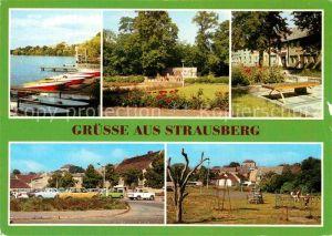AK / Ansichtskarte Strausberg Brandenburg Parkplatz Muencheberger Strasse Straus See Kat. Strausberg