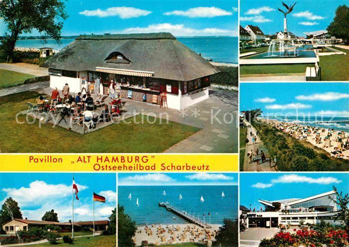 AK / Ansichtskarte Scharbeutz Ostseebad Pavillon Alt Hamburg Strand Kat. Scharbeutz
