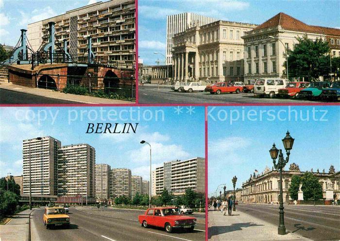 AK / Ansichtskarte Berlin Jungfernbruecke Palais Unter den Linden Operncafe Leipziger Strasse Museum fuer Deutsche Geschichte Kat. Berlin