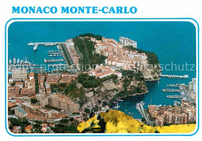 AK / Ansichtskarte Monte Carlo Le Rocher de la Principaute de Monaco Port Kat. Monte Carlo