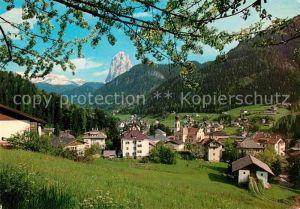 AK / Ansichtskarte Ortisei St Ulrich Malerische Ansicht mit Langkofel Dolomiten