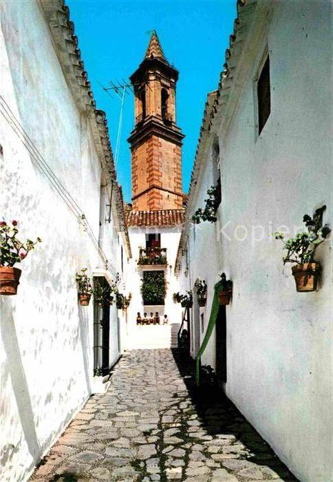 AK / Ansichtskarte Estepona Calle Murillo Torre Iglesia Parroquial  Kat. Costa del Sol Malaga