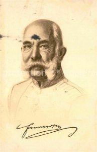 AK / Ansichtskarte Franz Josef I. Kaiser von oesterreich  Kat. Koenigshaeuser