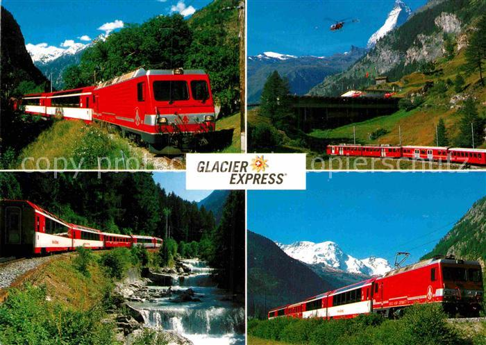 AK / Ansichtskarte Eisenbahn Glacier Express Brig Zermatt Kat. Eisenbahn