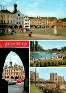 AK / Ansichtskarte Litomerice Leitmeritz Nordboehmen Mirove Namesti Radnice Freibad Kat. Litomerice
