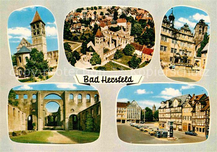 AK / Ansichtskarte Bad Hersfeld Kirche Stiftsruine Marktplatz Altstadt Kat. Bad Hersfeld