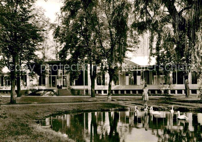 AK / Ansichtskarte Bad Hersfeld Neues Badehaus und Teich Kat. Bad Hersfeld