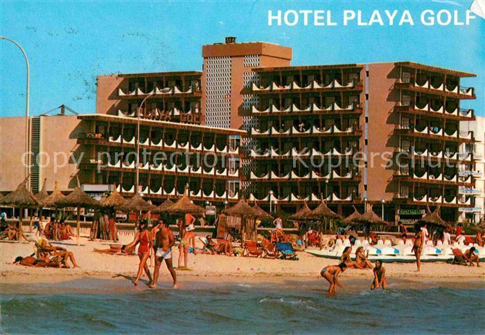 AK / Ansichtskarte Playa de Palma Mallorca Hotel Playa Golf Strand Kat. Spanien