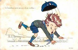 AK / Ansichtskarte Kinder Child Enfants Kuenstlerkarte Pif Paf Le Louveteau ouvre ses yeux et ses oreilles Kat. Kinder