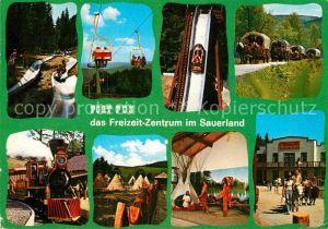 AK / Ansichtskarte Vergnuegungspark Fort Fun Bestwig Wasserfall  Kat. Vergnuegungsparks
