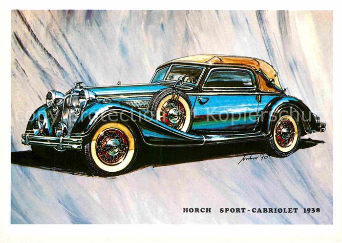 AK / Ansichtskarte Autos Horch Cabriolet Typ 853 A 1938 Kat. Autos