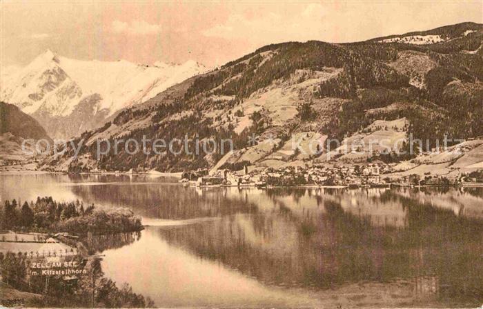 AK / Ansichtskarte Zell See Panorama mit Kitzsteinhorn Kat. Zell am See