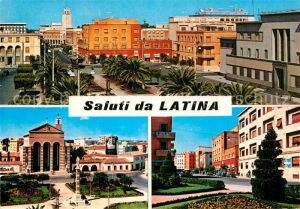 AK / Ansichtskarte Latina Piazza della Libertal Chiesa di San Marco Piazza Dante Kat. Latina