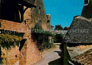 AK / Ansichtskarte Castelnaud la Chapelle Cite feodale vieille rue Collection En parcourant la Dordogne Kat. Castelnaud la Chapelle