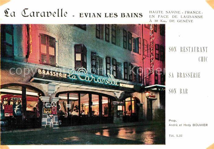 AK / Ansichtskarte Evian les Bains Haute Savoie Brasserie Restaurant La Caravelle Kat. Evian les Bains