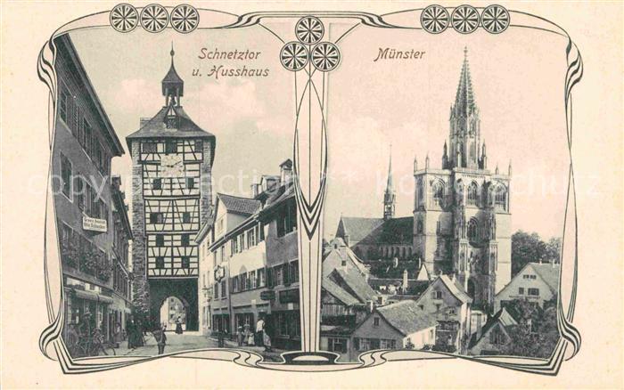 AK / Ansichtskarte Konstanz Bodensee Schnetztor Husshaus Muenster Kat. Konstanz