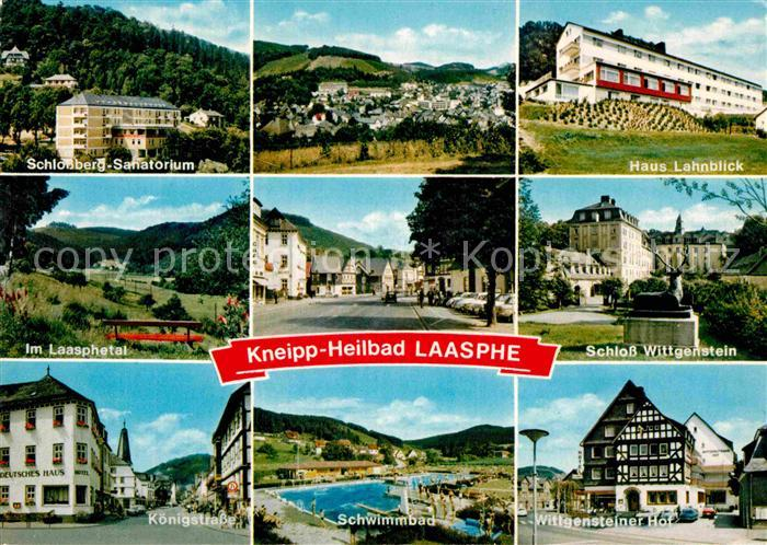 AK / Ansichtskarte Laasphe Bad Schloss Wittgenstein Haus Lahnblick Koenigstrasse  Kat. Bad Laasphe