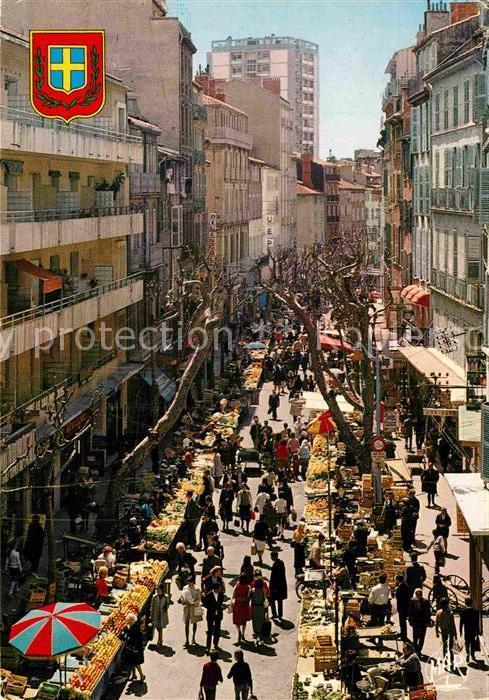 AK / Ansichtskarte Toulon Var Cours Lafayette pendant le marche Kat. Toulon