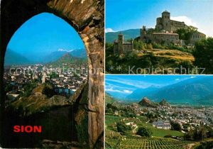AK / Ansichtskarte Sion VS au pied de ses chateaux Alpes Kat. Sion