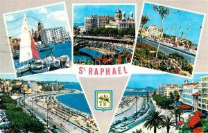 AK / Ansichtskarte Saint Raphael Var Le Port La plage Boulevard Felix Martin Kat. Saint Raphael