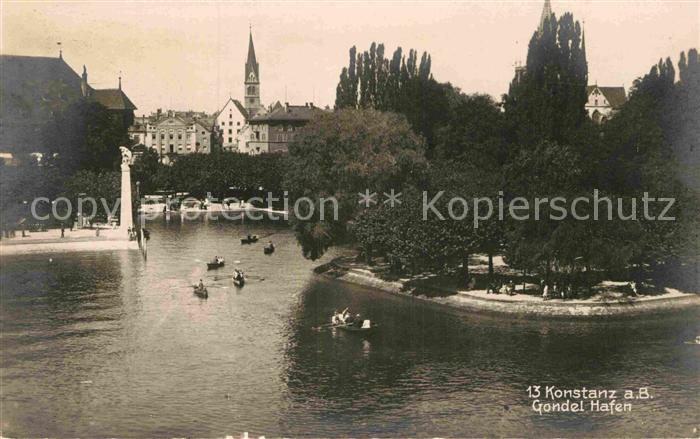 AK / Ansichtskarte Konstanz Bodensee Gondelhafen Kat. Konstanz