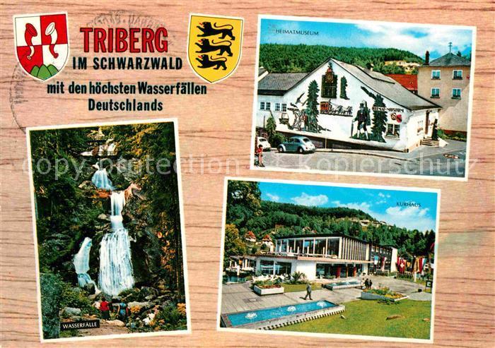 AK / Ansichtskarte Triberg Schwarzwald Heimatmuseum Kurhaus Wasserfaelle Kat. Triberg im Schwarzwald