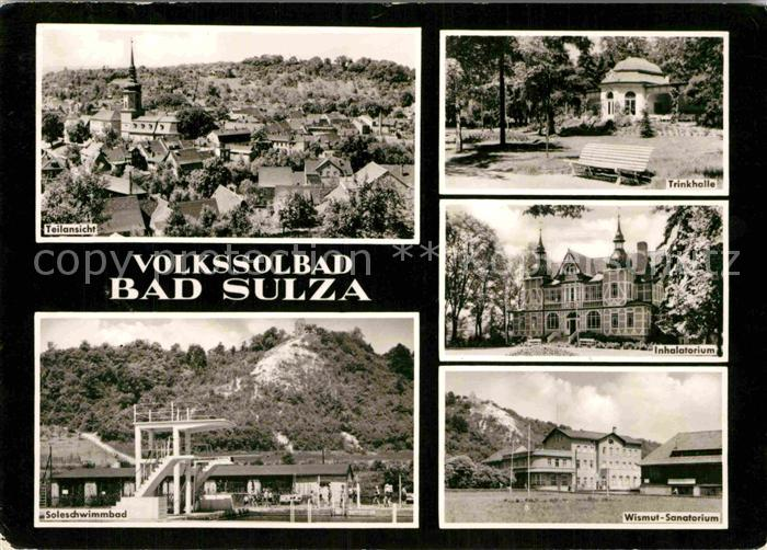 AK / Ansichtskarte Bad Sulza Trinkhalle Wismut Sanatorium  Kat. Bad Sulza