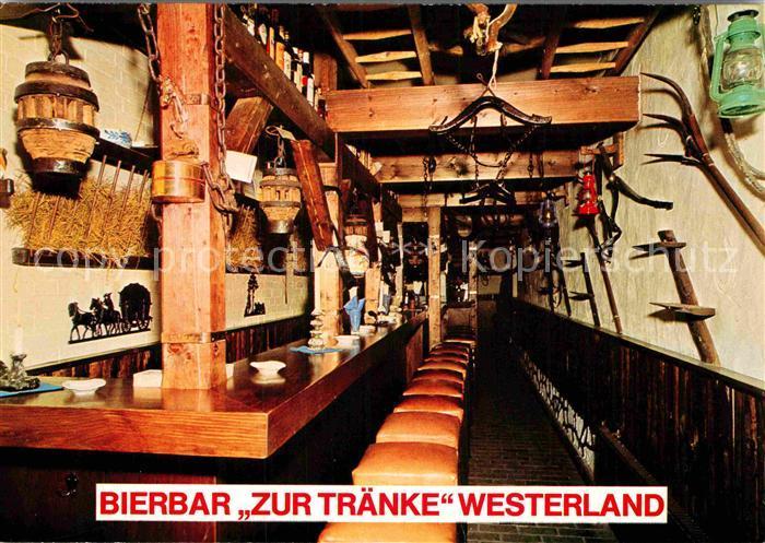 AK / Ansichtskarte Westerland Sylt Bierbar Zur Traenke Kat ...