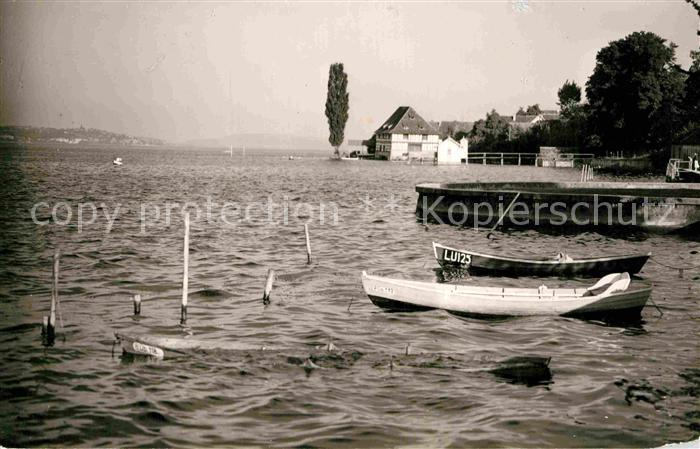 AK / Ansichtskarte Bodman Bodensee Boote Ufer